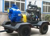 Bomba de agua con autocebado con accionamiento diésel para aguas residuales
