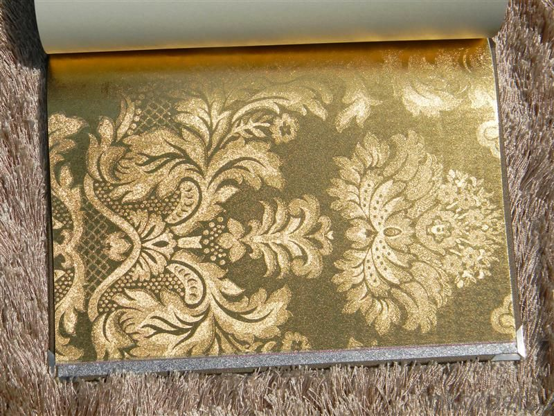 Metallic Wallpaper Luxury Flower Design Home Decor 3d Gloden Metallic Wallpaper