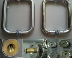 Stainless Steel Glass Door Handle for Bathroom/Shower Room for Modern Housing Decorative DH116