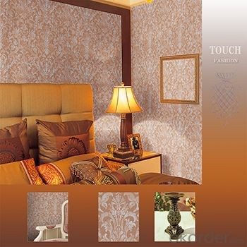 PVC Wallpaper 2015 Modern Style Vinyl PVC Wallpaper with Deep Embossed Pattern