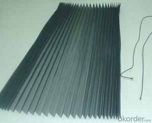 Polypropylene Pleated Mesh with Fold Height 18mm