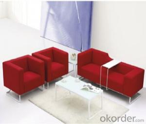 Office Sofa with Bright Color Fabric Cover