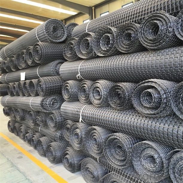 PP Biaxial Geogrid with High Tensile Strength Warp Knitted