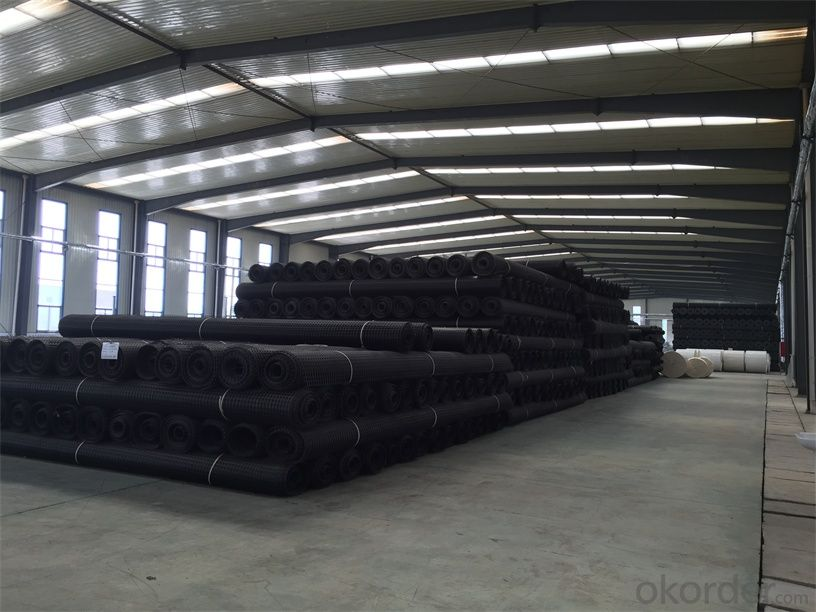 Black Uniaxial Geogrid with High Tensile Strength Suitable for Different Market