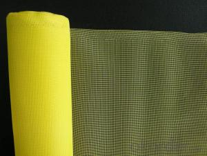 Fiberglass Mosquitoes Plain Mesh in Yellow