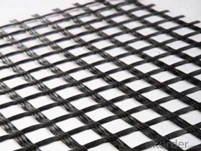 50/50Kn/M Warp Knitted Fiberglass Geogrid In China