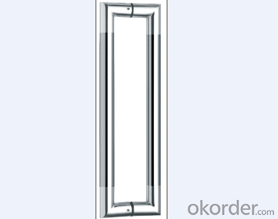 Stainless Steel Glass Door Handle for bathroom/Wooden Door Handle with Popular Style DH132