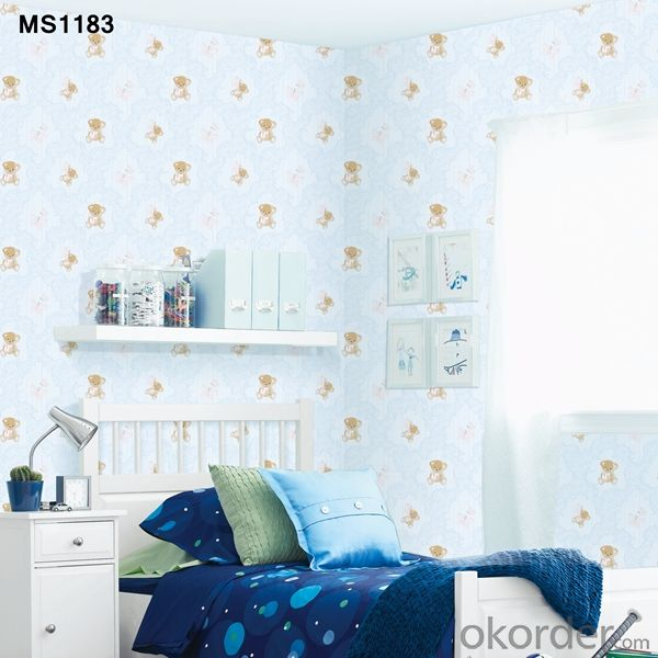 PVC Wallpaper Vinyl Coated Chinese Cheap Korean New Wallpaper