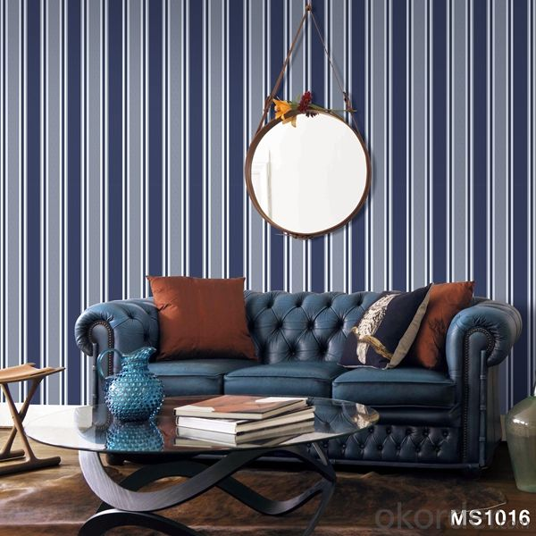 PVC Wallpaper New Style Hot Sale Vinyl Strip Wallpapers