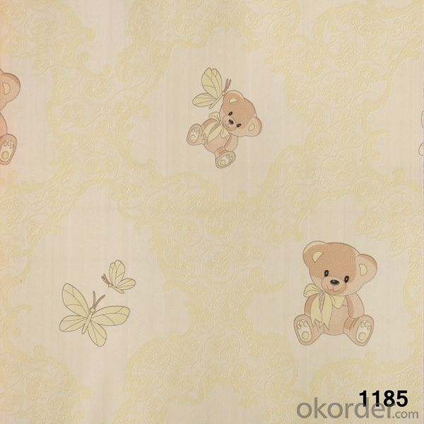 PVC Wallpaper Korea Designer Waterproof and Fireproof  Vinyl Wallpaper