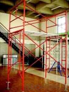 Frame Scaffolding in Construction by painting