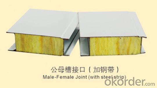 Rock Wool Sandwich Panels Steel Prefab House High Thermal Insulation