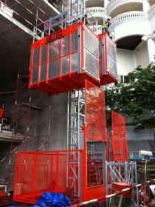 Construction Hoist Single Cage Famous Supplier