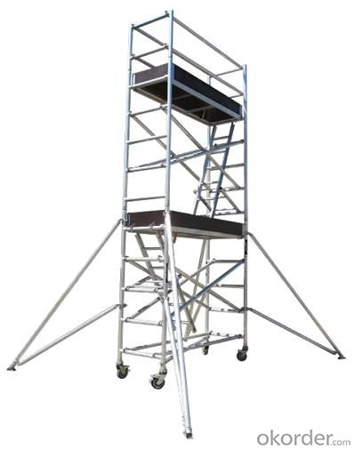 Metal Scaffolding Ladders : Buy aluminum single width scaffolding with inclined ladder