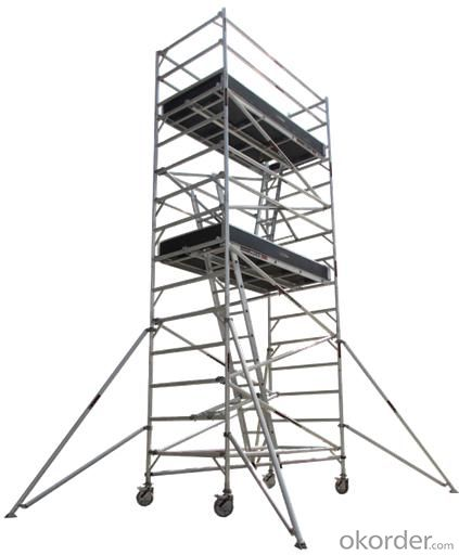 Metal Scaffolding Ladders : Buy aluminum double width scaffolding with inclined ladder