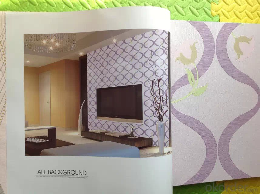 3d Wallpaper 2015 Latest Design PVC Wallpaper Modern Design Washable 3d Effect