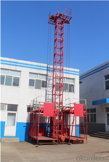 SC100 Single Cage 1Ton Building Materials Hoist