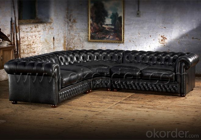Chesterfield Corner Sofa for Spacious Living Room