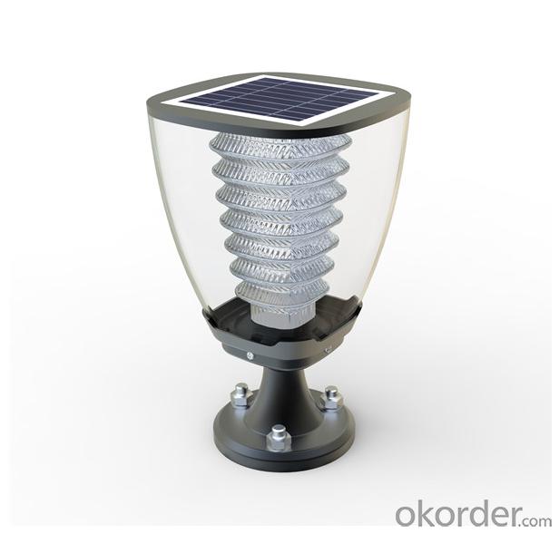Solar Garden Pillar light Warm white lighting for decorating