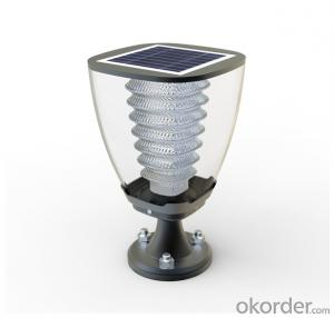Solar Garden Pillar light Warm white lighting for decorating