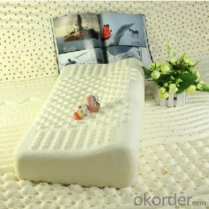 Contour Bed Latex Foam Pillow Milk White