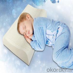 Standard Function Latex Foam Pillow Milk White