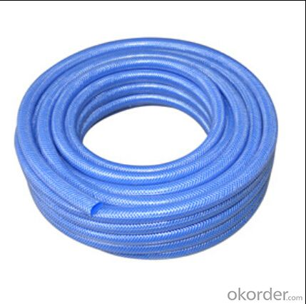 Yellow or Blue PVC Layflat Water Delivery Pipe  Discharge Hose Pump Irrigation