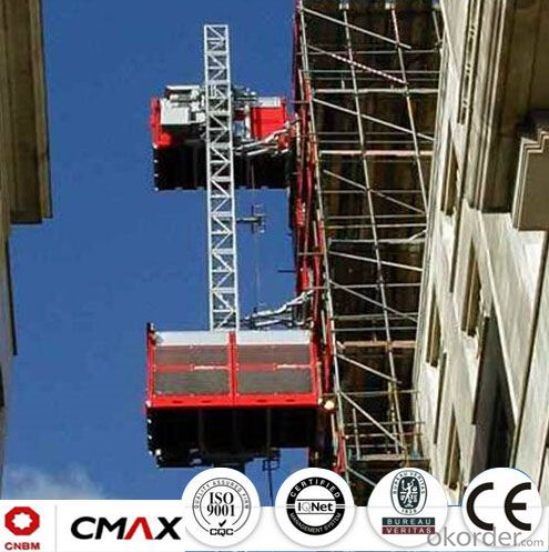 Building Hoist SC120/120 European Standard Electric Parts with 2.4ton Capacity