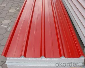 Pre-Painted Steel Coil for Sandwich Wall Thinkness 0.3mm-2mm Width 900mm-1250mm