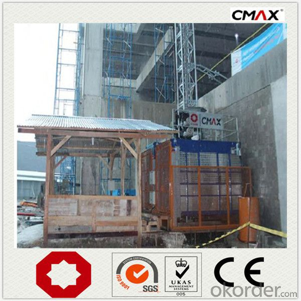 Building Hoist 3000kg Single Cage New Design
