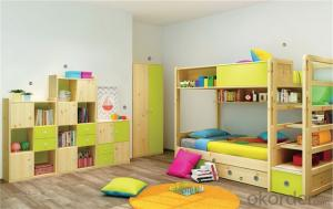 Kids Bedroom Bunk Bed with Colorful Design