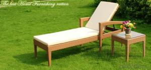 Beach Chair Sun Lounger Rattan Lounger Wicker Lounger  Outdoor Lounger