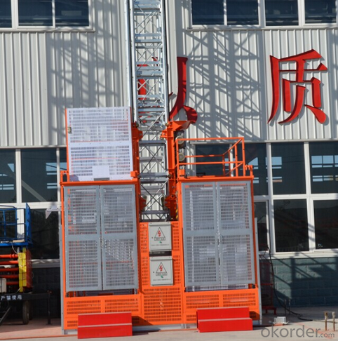 Building Hoist SC 200 Sing Cage with CE ISO Certificate