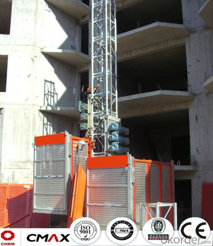 Building Hoist Hot Galvanizing Mast Section Sales with 3.2ton Capacity