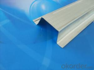 Metal Stud / Metal Track Gypsum Light Steel Profile For Gypsum Board