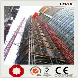 Construction Hoist Mast Section Hot Galvanizing