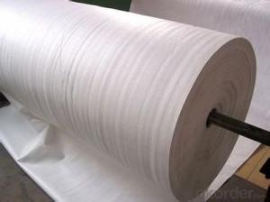 PET long fiber white color non woven geotextile