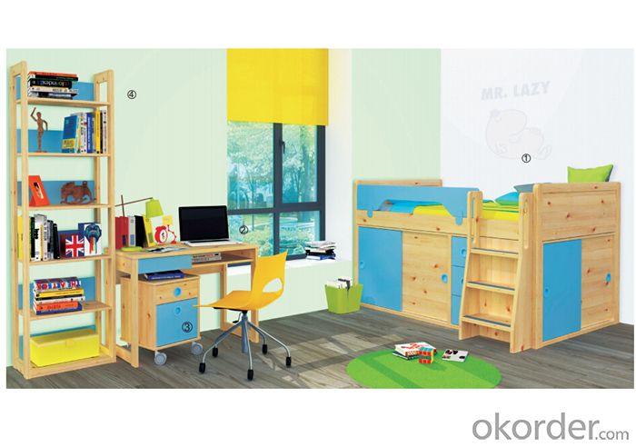 Kids Bunk Bed with Environmental Material