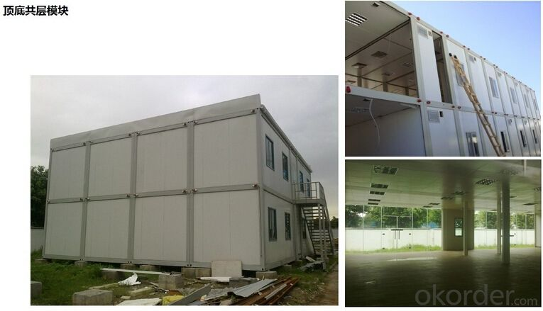 Container Office 20ft Container Houses EPS Modular Houses with EPS Sandwich Panel