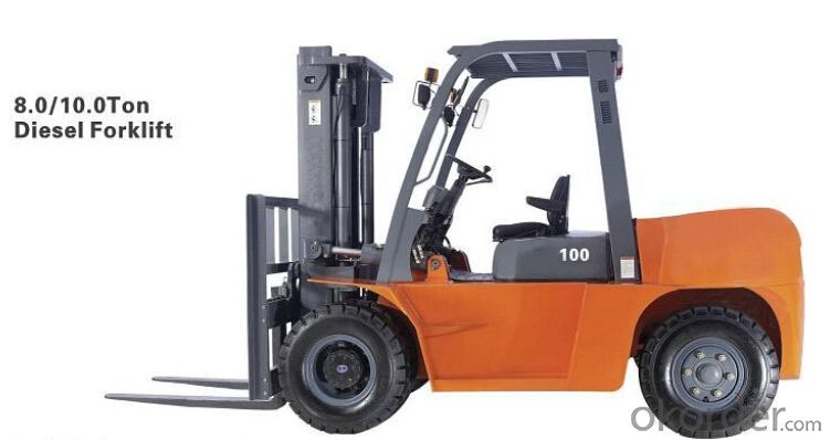 High Efficent Disel  Forklift Truck 8.0T with Good Price