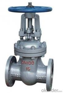 Gate Valve of Ductile Cast Iron Wedge Stem Electric