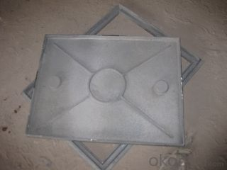 Heavy Duty  Ductile Iron Manhole Cover D400 EN124 For Sale