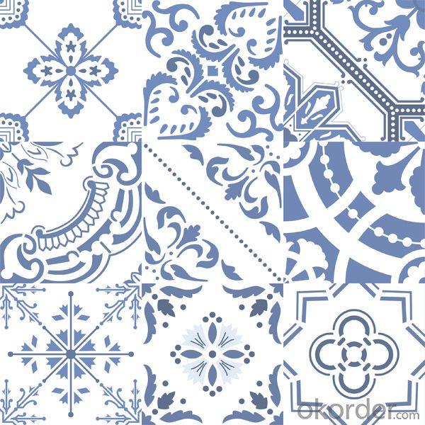 Glazed Porcelain Tile Decor Series R61181