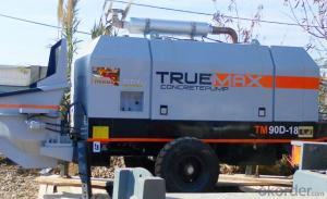 Stationary Trailer Mounted Concrete Pump HBT 90.18.174D