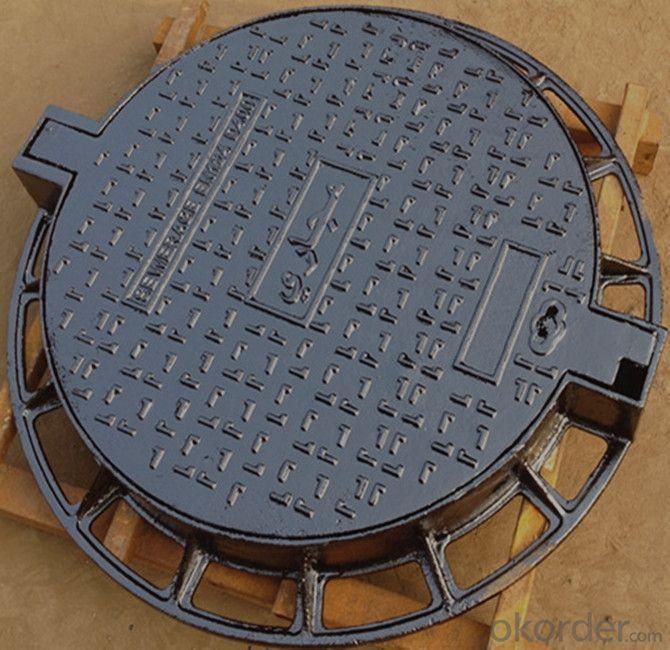 Manhole Covers EN124 GGG40 Ductule C250 Bitumen Coating