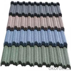 Stone Coated Metal Roofing Tile Red Green Blue Grey Good Quality