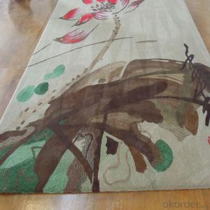 Luxury Wool Rug Hand Embroidered with Good Quality for Room