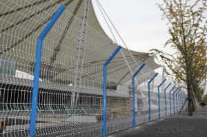High   Quality  Folded  Wire Mesh  Fence