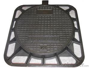 Manhole Cover EN124 GGG40 Ductule Iron B125 Bitumen Layer