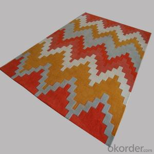 Wool Rug with Modern Stripe Design and Cheap Price